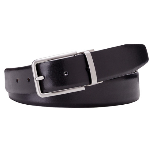 Black and Brown Reversible Leather Belt - Profuomo (1)