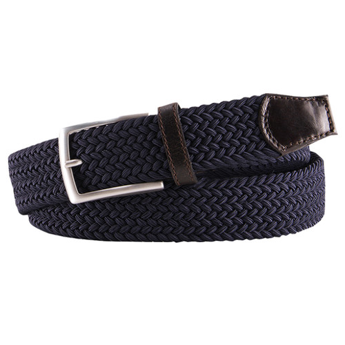 Dark Blue Braided Profuomo Belt - Elastic (1)