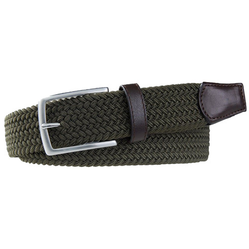 Green Braided Profuomo Belt - Elastic (1)