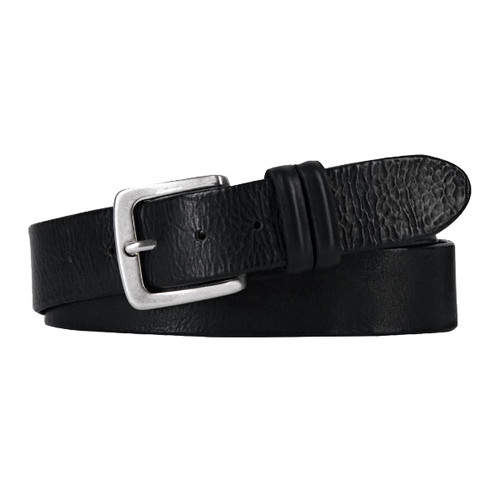 Black Leather Profuomo Belt - Jeans (1)