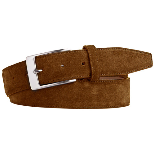Light Brown Suede Belt - Profuomo (1)