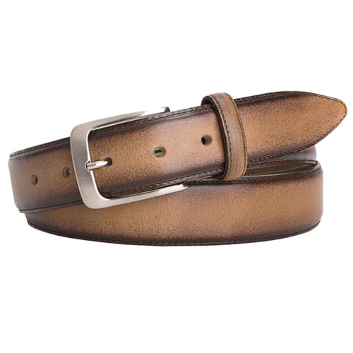 Light Brown Profuomo Leather Belt - Hand Polished (1)