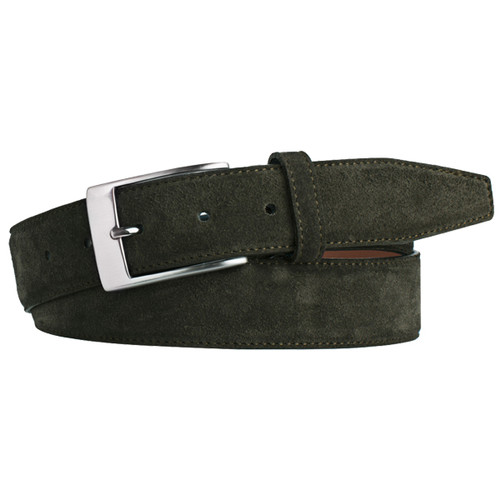 Green Suede Belt - Profuomo (1)