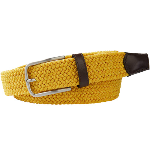 Yellow Braided Profuomo Belt - Elastic (1)