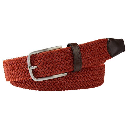 Orange Braided Profuomo Belt - Elastic (1)