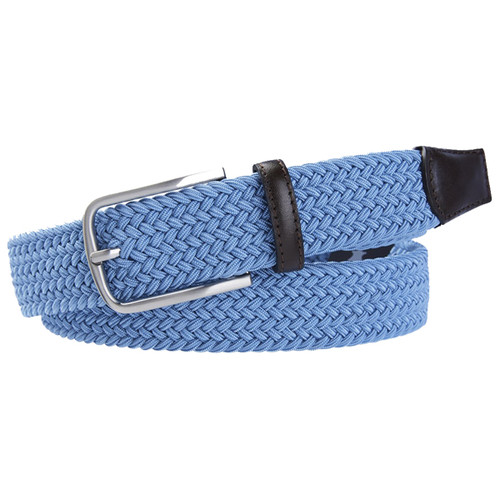 Blue Braided Profuomo Belt - Elastic (1)