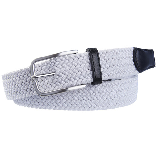 White Braided Profuomo Belt - Elastic (1)